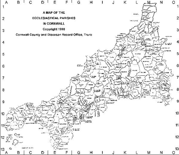 Ancient Cornish Parishes: Click to Enlarge